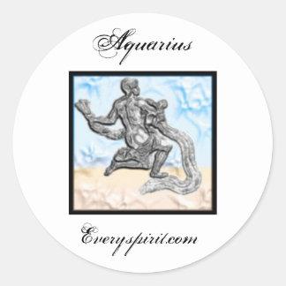 Aquarius Zodiac Items Classic Round Sticker