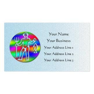 Aquarius Zodiac Low Cost Star Sign Rainbow Blue Business Card Template
