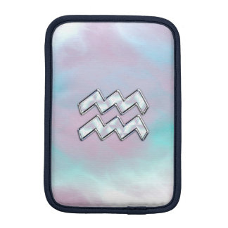 Aquarius Zodiac on Mother of Pearl Style iPad Mini Sleeves