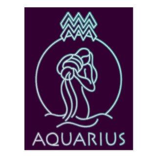 Aquarius zodiac products postcard