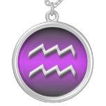 Aquarius Zodiac Purple Gradient ~ Necklace