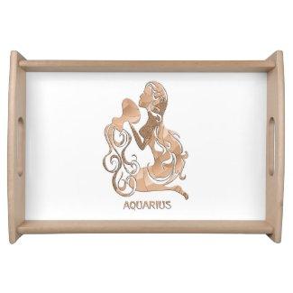 Aquarius Zodiac Serving Platter