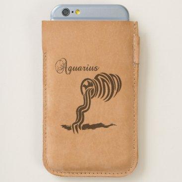 Aquarius Zodiac Sign and Symbol iPhone 6/6S Case