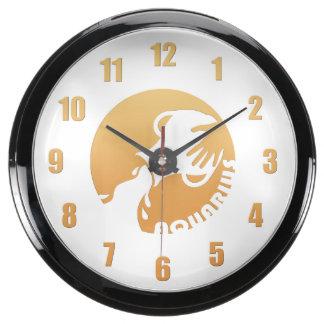 Aquarius Zodiac Sign Aquavista Clocks