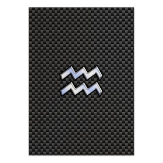 Aquarius Zodiac Sign Carbon Fiber Style Large Business Cards (Pack Of 100)