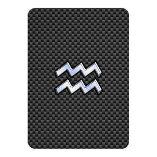 Aquarius Zodiac Sign Carbon Fiber Style Card