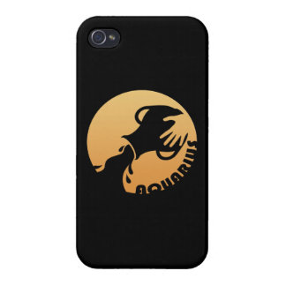 Aquarius Zodiac Sign Covers For iPhone 4