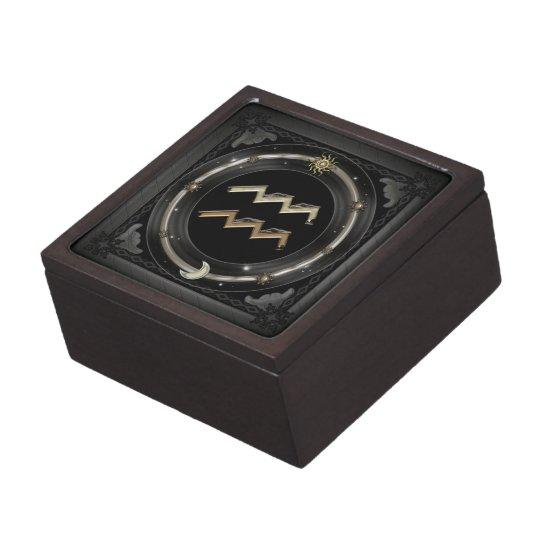 Aquarius Zodiac Sign Keepsake Box