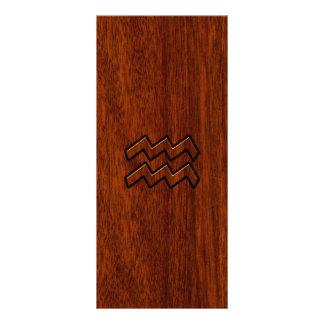 Aquarius Zodiac Sign Mahogany Style Rack Card