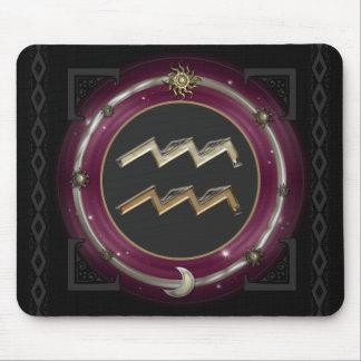 Aquarius Zodiac Sign Mouse Pad