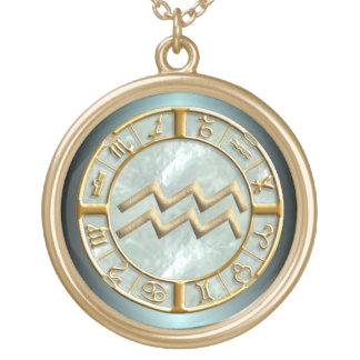 Aquarius Zodiac Sign Necklace