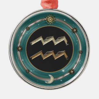 Aquarius Zodiac Sign Ornament