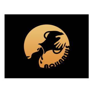Aquarius Zodiac Sign Postcard