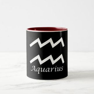 'Aquarius' Zodiac Sign Two-Tone Coffee Mug