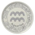Aquarius Zodiac sign vintage Party Plates