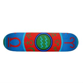 Aquarius Zodiac Skateboard