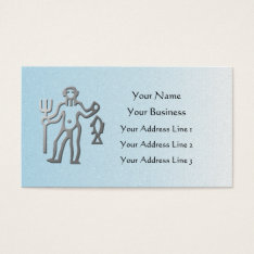 Aquarius Zodiac Star Sign In Silver Blue Mosaic Business Card at Zazzle