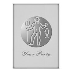 Aquarius Zodiac Star Sign Premium Silver Card at Zazzle