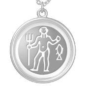 Aquarius Zodiac Star Sign Premium Silver necklaces