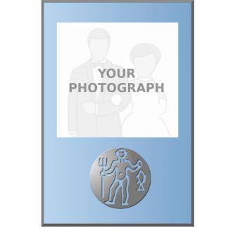 Aquarius Zodiac Star Sign Premium Silver Standing Photo Sculpture