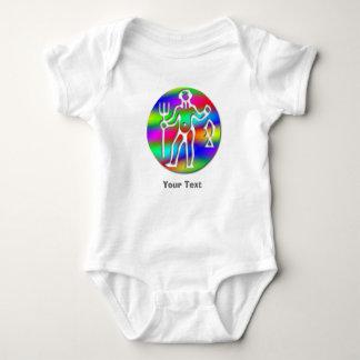 Aquarius Zodiac Star Sign Rainbow Baby Bodysuit