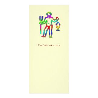 Aquarius Zodiac Star Sign Rainbow Bookmark Rack Card
