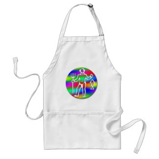 Aquarius Zodiac Star Sign Rainbow Crafts Cook Chef Adult Apron