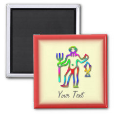 Aquarius Zodiac Star Sign Rainbow Magnet at Zazzle