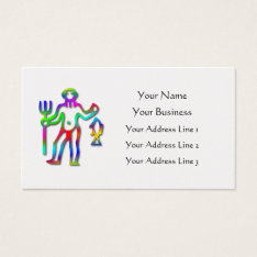 Aquarius Zodiac Star Sign Rainbow On Pearl Business Card at Zazzle