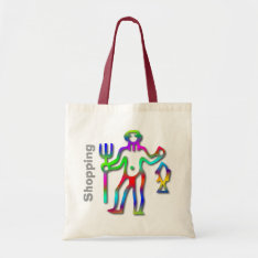 Aquarius Zodiac Star Sign Rainbow Tote Bag at Zazzle