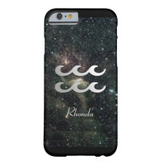 Aquarius Zodiac Star Sign Universe Barely There Iphone 6 Case at Zazzle