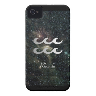 Aquarius Zodiac Star Sign Universe iPhone 4 Case-Mate Case