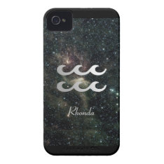 Aquarius Zodiac Star Sign Universe Iphone 4 Cover at Zazzle