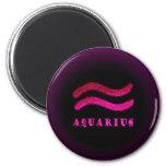 Aquarius Zodiac Symbol 2 Inch Round Magnet