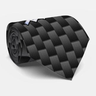 Aquarius Zodiac Symbol Carbon Fiber Decor Neck Tie