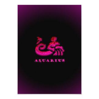 Aquarius Zodiac Symbol Card
