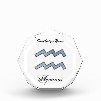 Aquarius Zodiac Symbol Element Acrylic Award