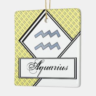 Aquarius Zodiac Symbol Element Ceramic Ornament