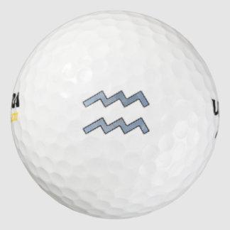 Aquarius Zodiac Symbol Element Golf Balls