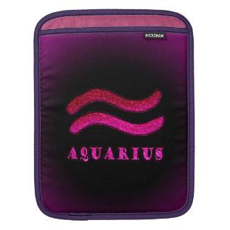 Aquarius Zodiac Symbol iPad Sleeves
