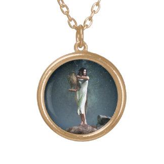 Aquarius Zodiac Symbol Personalized Necklace