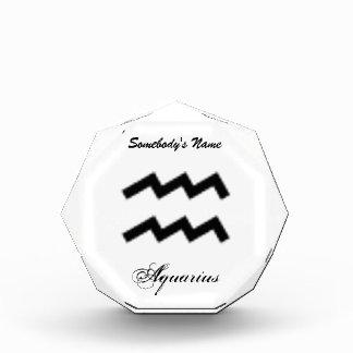 Aquarius Zodiac Symbol Standard Award