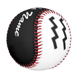 Aquarius Zodiac Symbol Standard Baseball