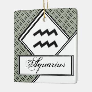 Aquarius Zodiac Symbol Standard Ceramic Ornament