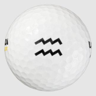 Aquarius Zodiac Symbol Standard Golf Balls