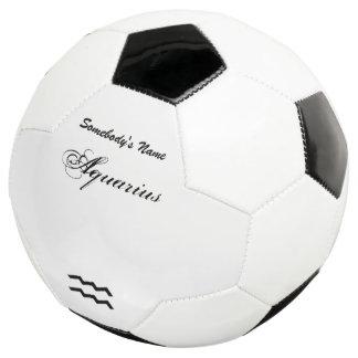 Aquarius Zodiac Symbol Standard Soccer Ball