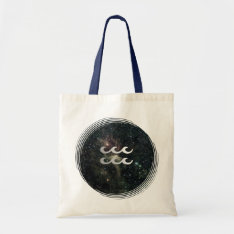 Aquarius Zodiac Universe Crafts & Shopping Tote Bag at Zazzle