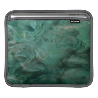 Aquatic abstract in turquoise and grey sleeve for iPads