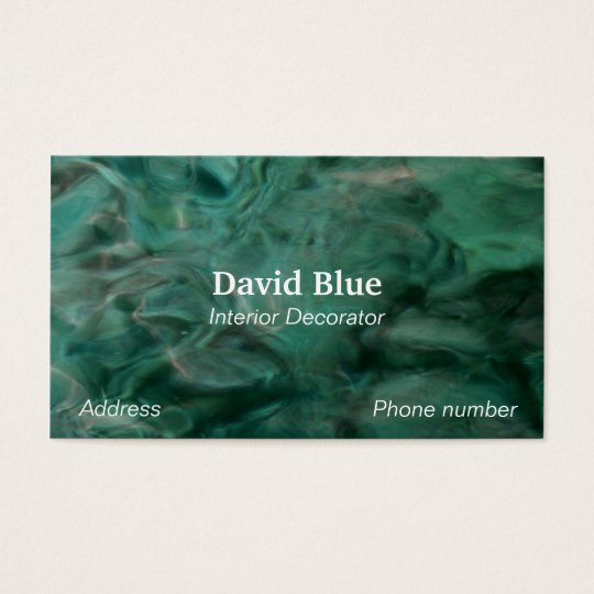 Aquatic Abstract in Turquoise and White Business Card