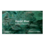 Aquatic Abstract in Turquoise and White Business Card Template